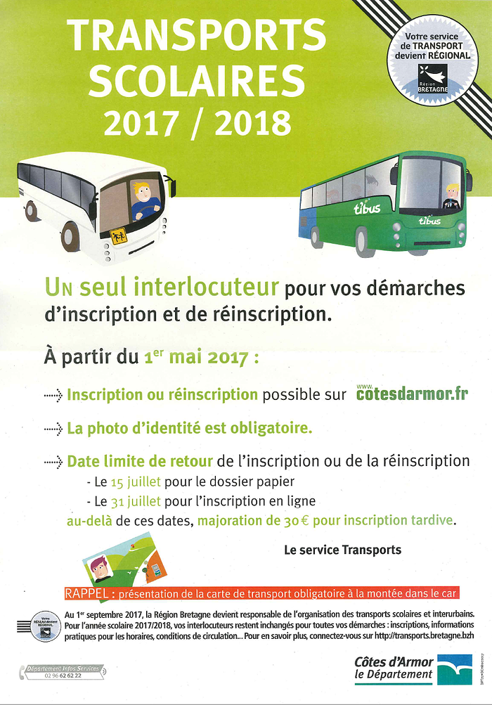 Transports Scolaires 2017-2018 0