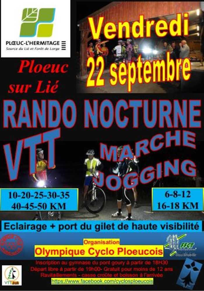 RANDO VTT ET MARCHE NOCTURNE LE 22/09 0