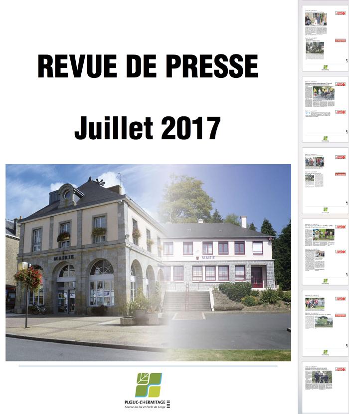TOUS LES TEMPS FORTS DE LA COMMUNE DANS LA REVUE DE PRESSE DE JUILLET 0