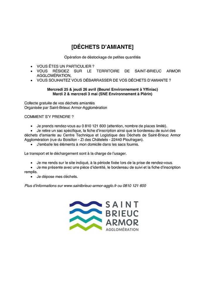 DÉCHETS D''AMIANTE 0