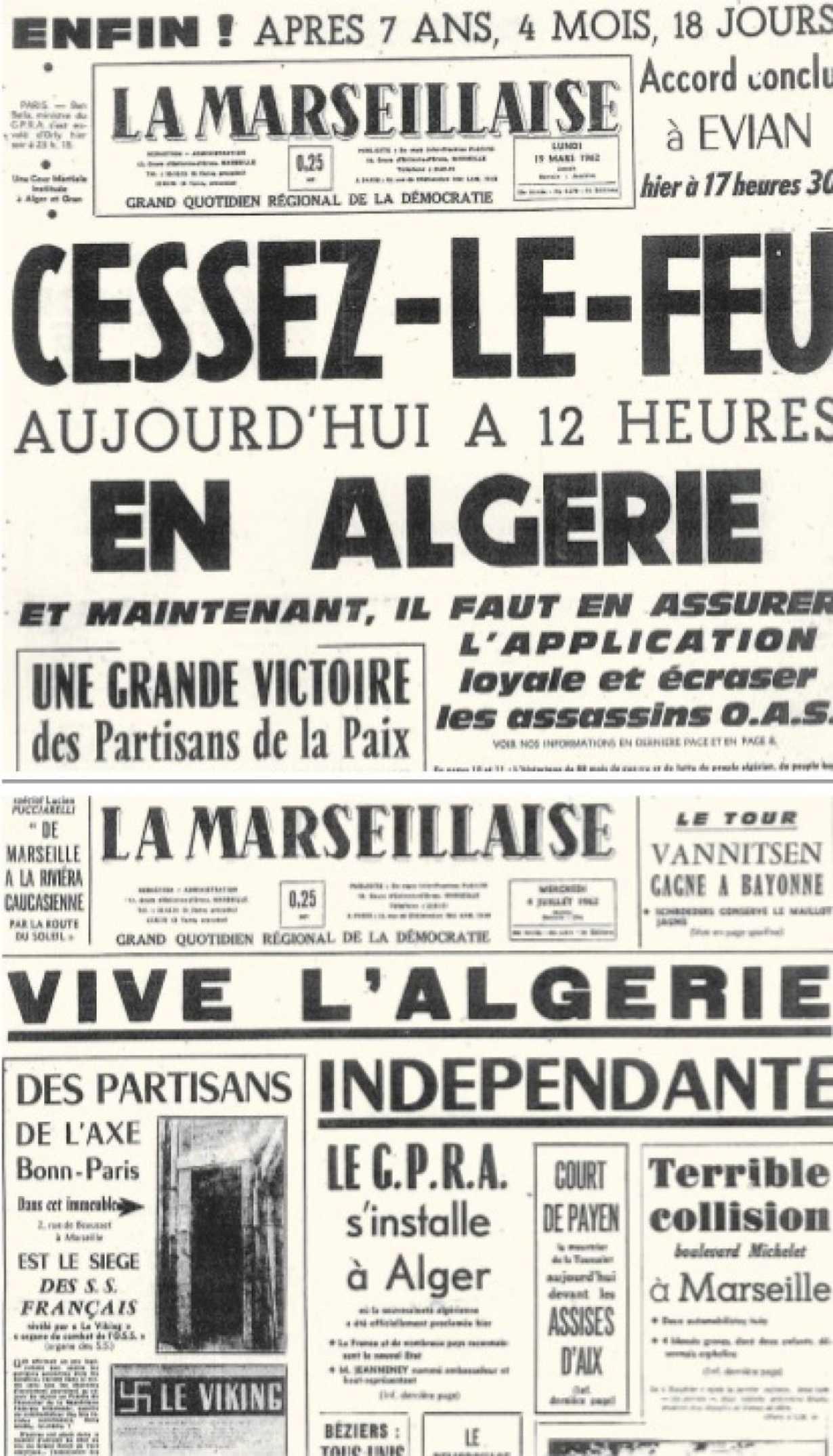 commemoration du cessez le feu  en algerie