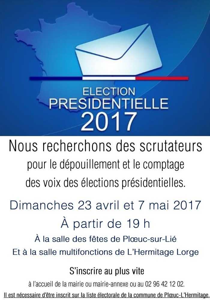 ELECTIONS PRESIDENTIELLES : RECHERCHE DE SCRUTATEURS 0