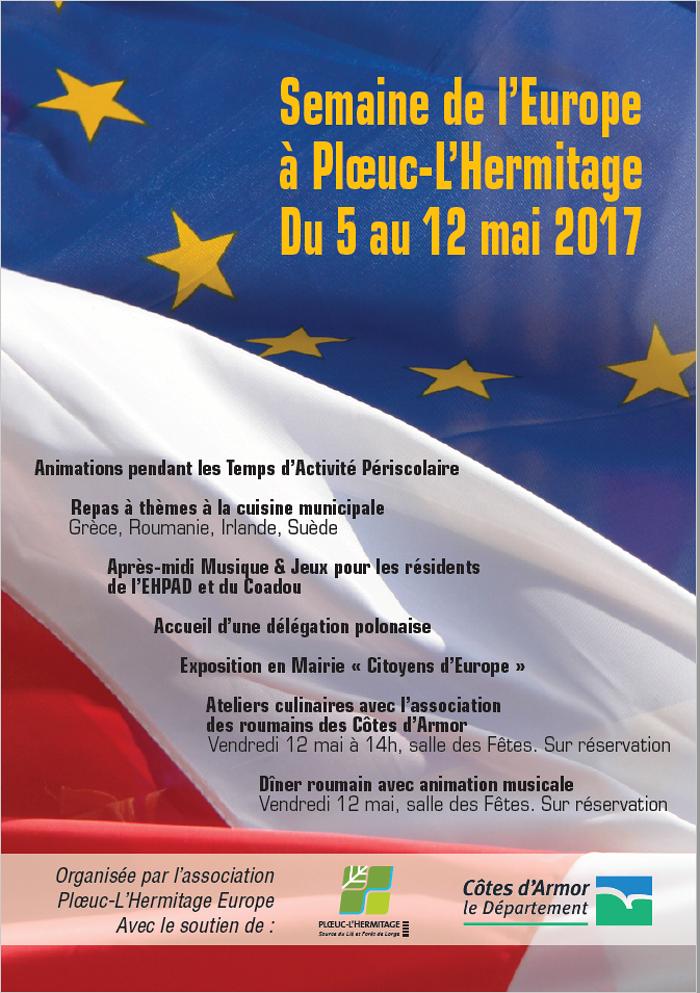 Programme de la Semaine de l''Europe à Plœuc-L''Hermitage du 5 au 12 mai 2017 0