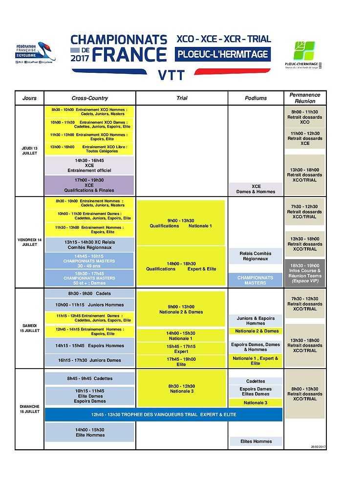 Programme sportif 0