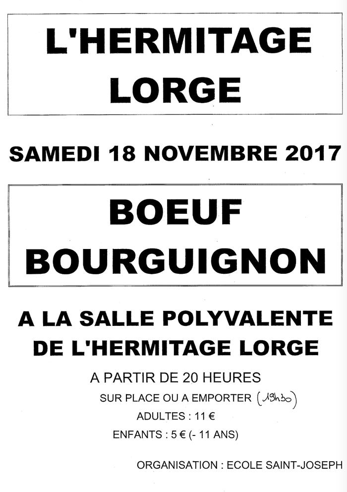 BOEUF BOURGUIGNON DE L''ECOLE SAINT-JOSEPH SAMEDI 18 NOVEMBRE 0