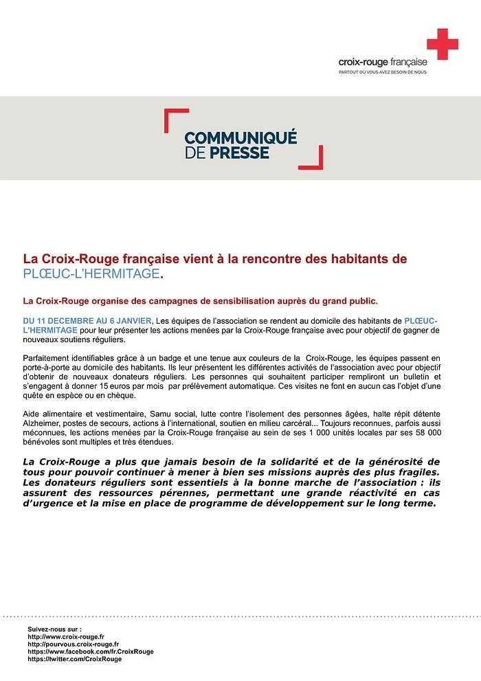 LA CROIX ROUGE FRANÇAISE VIENT À LA RENCONTRE DES HABITANTS 0