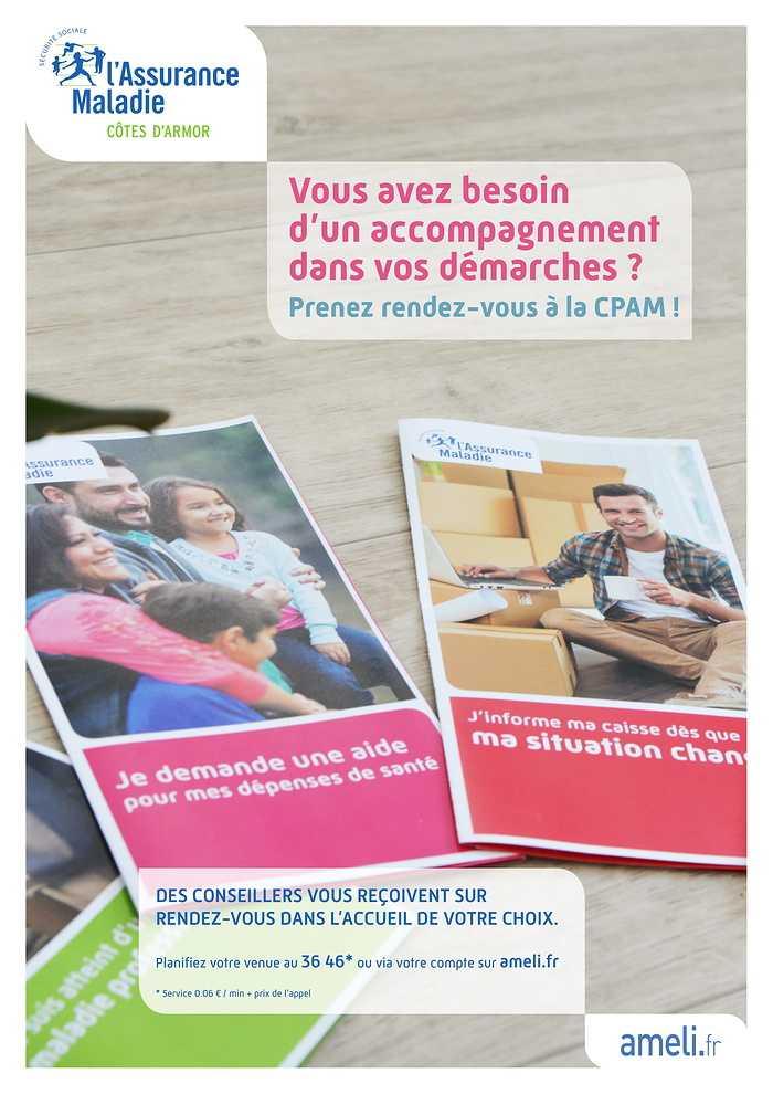 CPAM DES CÔTES D''ARMOR : ACCOMPAGNEMENT DANS LES DÉMARCHES 0