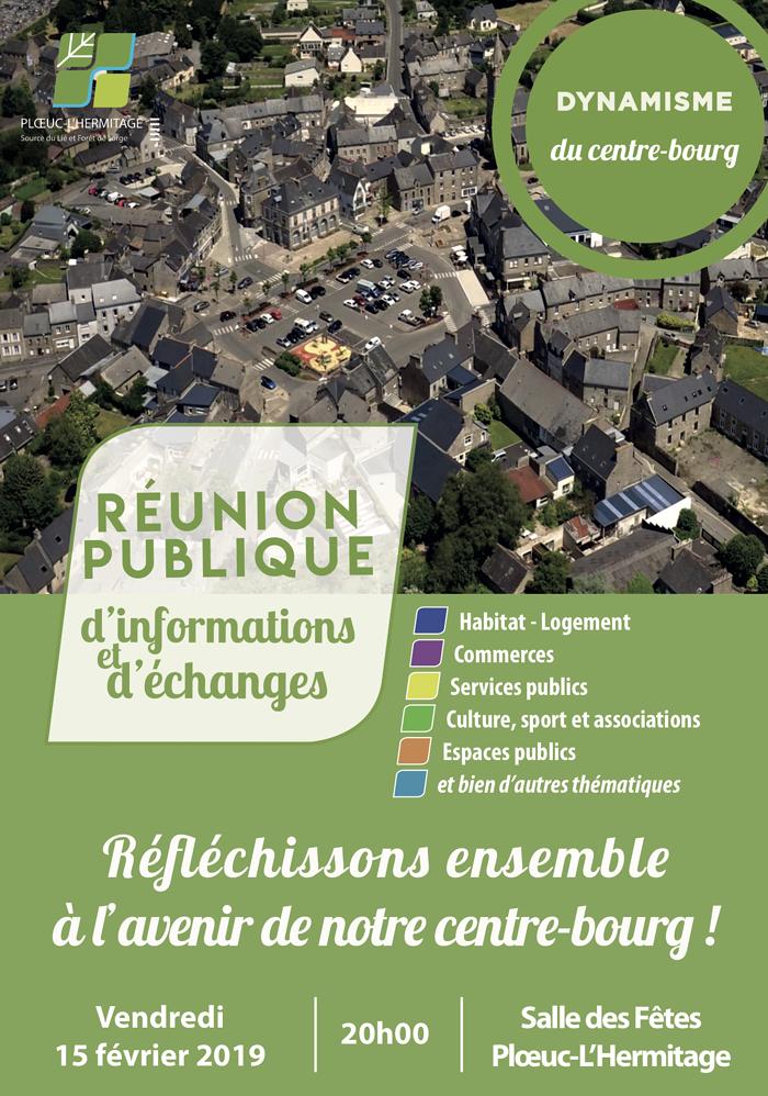"""Réunion publique le projet """" dynamisation du centre bourg"""" 0"""