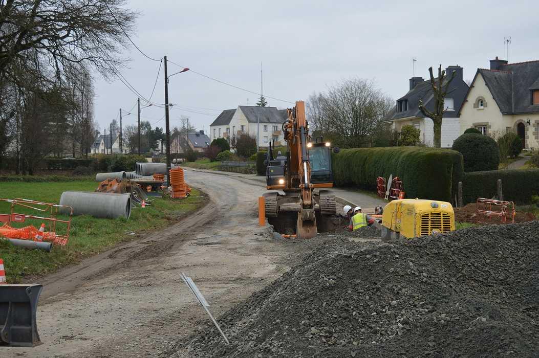 Les travaux du quartier du Pont Goury de Plœuc-L''Hermitage 0
